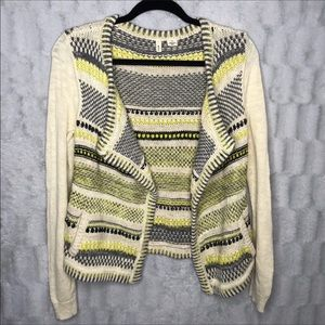 Anthropologie Moth Chaux Metallic Sweater Cardigan